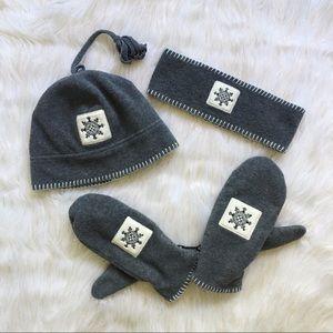 Accessories - Wintery Hat Gloves & Scarf Set 3 Piece